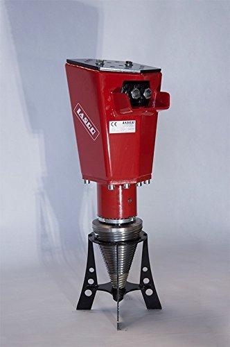 Lasco Kegelspalter Roli M1-4.7, 170 - 200 bar, 15 - 50 l/min, Baggerklasse 1,3 bis 5,0tonnen, Stammlänge 1,0 bis 2,0m, Durchmesser Holz bis ca. 70cm, Gesamtlänge 850mm, KegelØ 200mm, Kegellänge, 350mm, Gewicht ca. 80kg, Kegelspitze ausstauschbar,Trägermaschine: Hydr-Leistung: 170-200bar, Ölmenge in Liter 15-50l/min., Bagger Einsatzgewicht: 1,3bis 5,0 to., Holzlänge: 200cm Baggeraufnahme gegen Aufpreis siehe Beschreibung