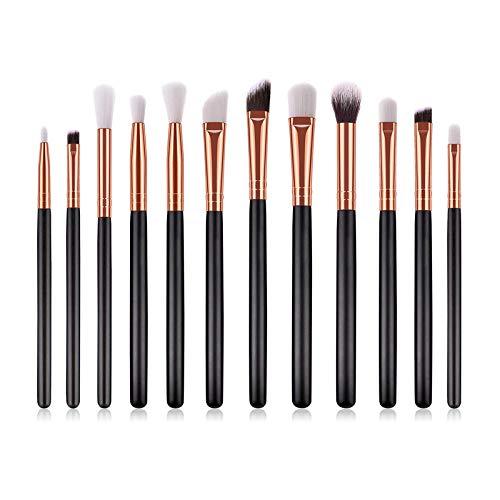 Terilizi Eenhoorn make-upkwastenset, 10 stuks, foundation, poeder, oogschaduw, make-upkwast, beauty, make-up, cosmetica, gereedschap, make-upkwast, zwart