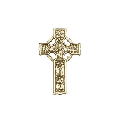 Antique Gold Tone Celtic Cross Visor Clip
