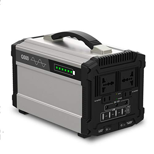 Tealight Power Generator 500W Portable Power Station 444Wh/120000mAh UPS Battery Pack with Quiet DC/AC Power Inverter Charged by Solar Panel/Wall Outlet/Car