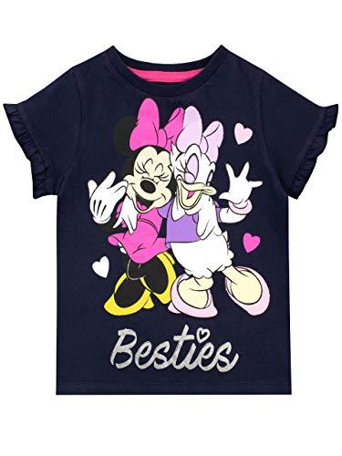Disney Mädchen Minnie Mouse T-Shirt Schwarz 116