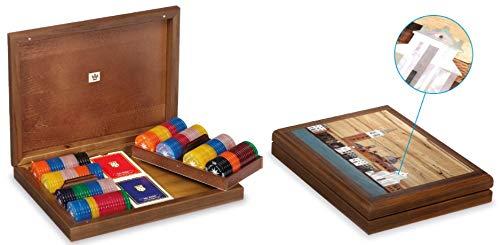 Dal Poker Set Venice 29.5 x 23 x 5.5 cm Wood Brown