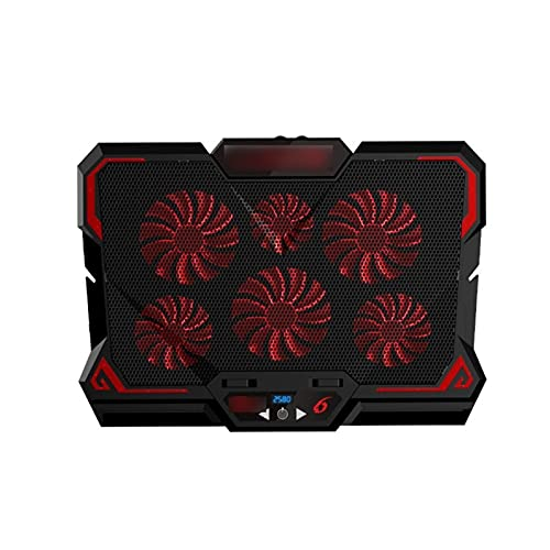 JDJD 17 Inch Gaming Laptop Cooler Height Adjustable 6 Fans Screen Switches Adjust 2 USB Ports (Color : Version 1)