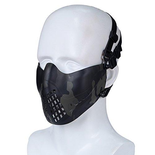 H World EU Airsoft Tactical Outdoor Paintball Caza Protección Media máscara Facial en Forma Casco rápido