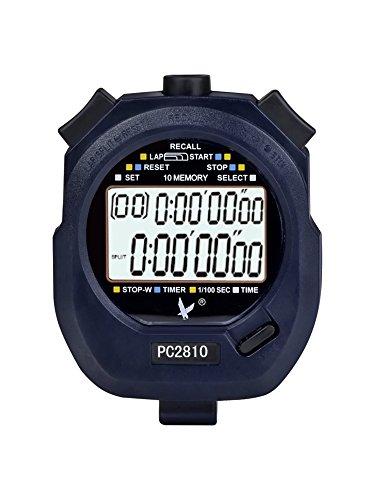 Digitale Sport Stoppuhr Digital Stoppuhr Datum Alarm Stoppuhr mit 2-reihig 10 Speicher Mal Display Countdown-Alarm