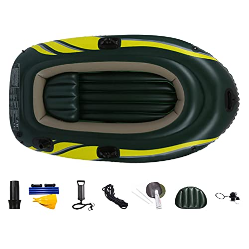 Xuanshengjia 2 Person Inflatable Kayak, Double Inflatable Kayak With Seat Cushion, Adults Fishing Inflatable Boat Raft Canoe, Anti Wear Thickened Drifting Boat Water Sports Equipment