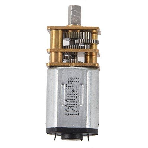 SODIAL(R) 3-6V DC Motor de transmision de velocidad del reductor de par de eje corto