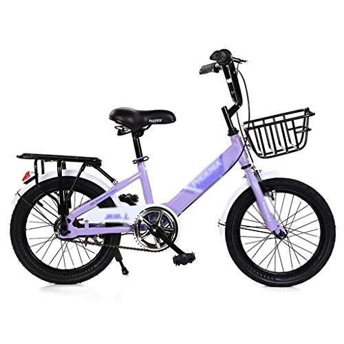 seveni Kids' Bikes, Children's Bicycle 14' boy Mountain Bike 12' Girl Bicycle Student Campus Scooter Road Riding Balance Car (Color : Purple, Size : 16inches)
