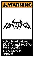 耐久性のある錆の兆候なし、85から90 Db(A)のノイズレベル警告-材料鉄のポスターの絵ティンサインヴィンテージの壁の装飾カフェバーパブホームビールの装飾工芸品