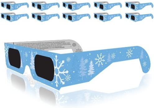 discount Christmas sale 3D Glasses - Holiday Specs lowest Transform Lights into Magical Snowflake Image (10 Pack) online sale