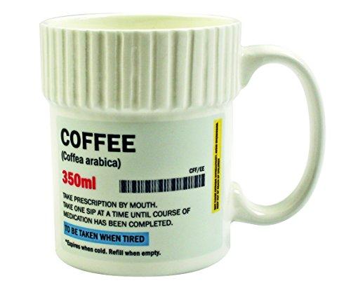 Gift Republic Pillendose Kaffeebecher, Mehrfarbig