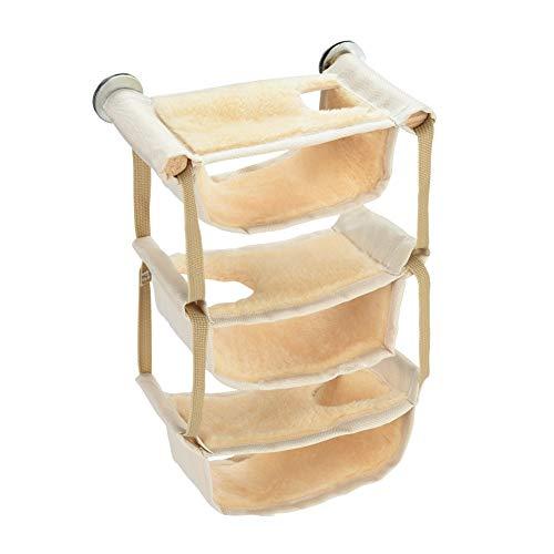Furpaw Meerschweinchen Zubehör, Hängematte für Ratten Kleintierbetten 6 Schichten Warm Halten aus Fleece, Kleintier Aufhängen Käfig Spielzeug für Hamster Chinchillas Eichhörnchen
