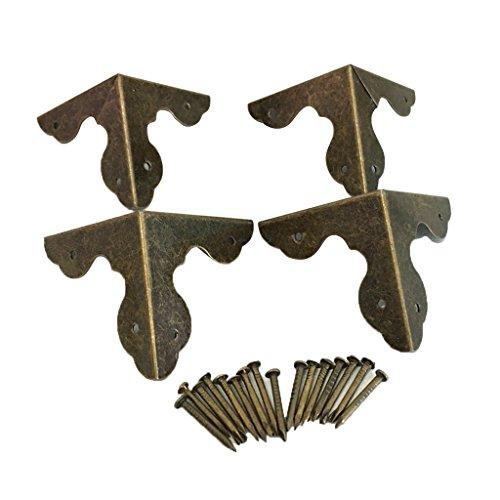 fuxxer/®/ /Juego de 6 56/x 42/mm/ para armarios Armario de puertas Ba/úles Cajas latas en el pa/ís de Vintage de casa estilo retro Bronce Hierro Dise/ño /6/x Antiguo bisagras