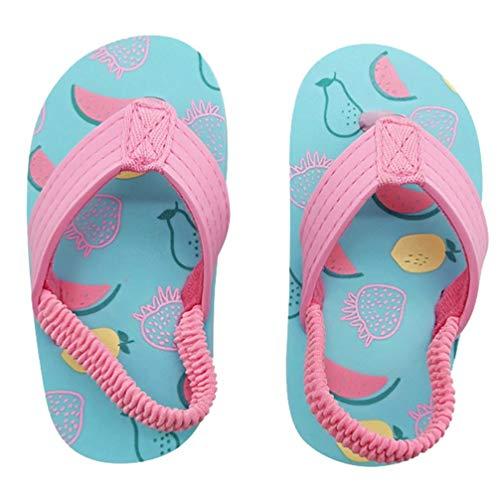 Holibanna Baby Mädchen Sommersandalen rutschfeste Weiche Sohle Schuhe Pantoffel Cartoon Obst Druck Flip Flop Prinzessin Kleid Schuhe 23
