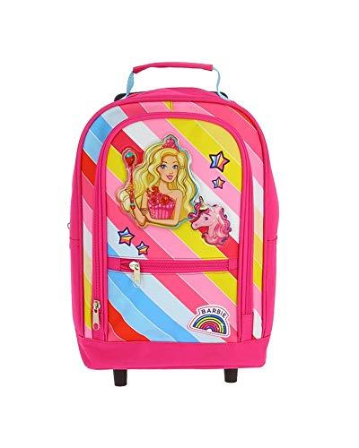 Barbie - Mini sac à dos roulettes et sa licorne -...