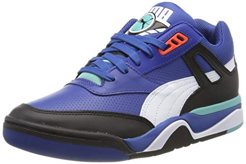 Puma Unisex-Erwachsene Palace Guard Sneaker, Schwarz (Puma Black-Puma White-Blue Turquoise 06), 44.5 EU