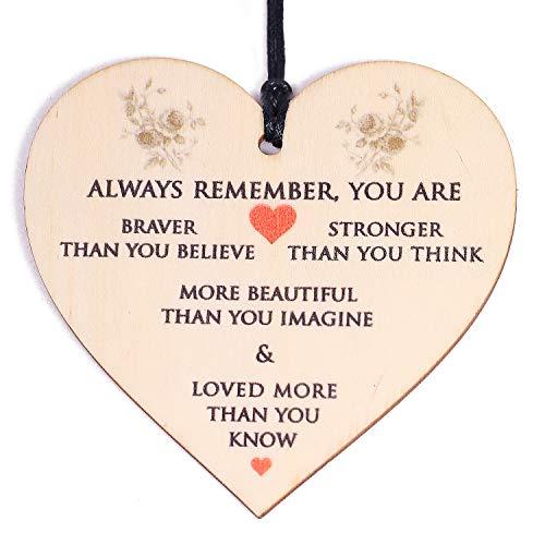 HONZEE Gifts for Women,Her Birthday Gift You Are Braver Stronger Smarter &...