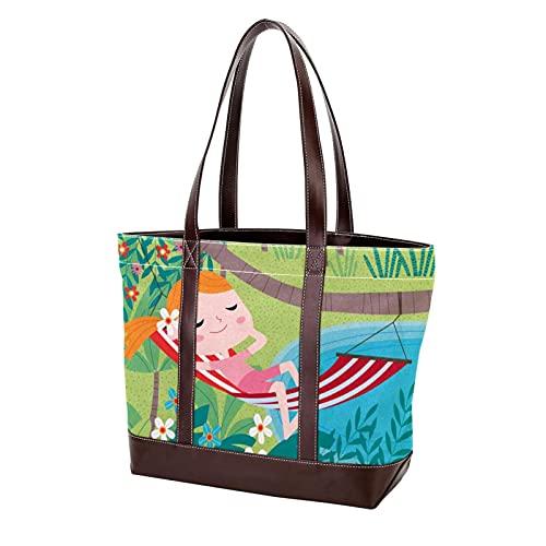 NaiiaN Bolso de mano para madre, mujer, niñas, señoras, estudiantes, bolsos de hombro para niña, monedero para acostarse, compras, bolsos de mano con correa liviana