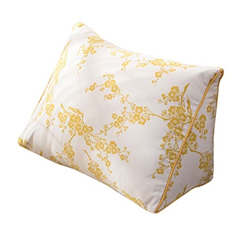 LF- Driehoek pad rugleuning pad geborsteld stof kussen slaapbank bureaustoel rust kussen ondersteuning (Color : D, Size : 45X22X32cm)