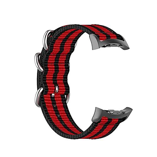 BoLuo Correa para Samsung Gear S2 SM-R720,Bandas Correa Repuesto,Correas Reloj,Fabric Canvas Reloj Brazalete Correa Repuesto Strap Wristband para Samsung Gear S2 SM-R720 SM-R730 Watch (rojo)