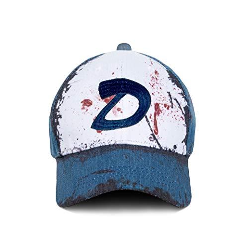 Wellgift Clementine Hut Mütze Cosplay Kostüm D Logo Stickerei Tote Zombies Baseball Kappe Halloween Costume Outdoor Erwachsene Herren Damen Kleidung Zubehör