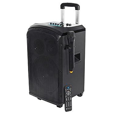 Rockville ROCKnGo 10  Powered Rechargable PA Speaker w Bluetooth + Wireless Mic