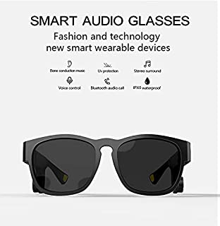 $74 » Sponsored Ad - Smart Sunglasses Bone Conduction Bluetooth Headphones with Wireless Open-Ear Audio Hands-Free Calling & Pol...