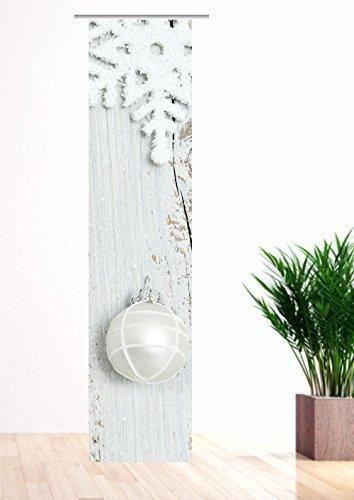 gardinen-for-life Flächenvorhang Weiße Weihnacht - Quatre Schiebevorhang, Gr.60 x 245 cm - Herrlicher Weihnachts - Vorhang - Christmas - Weihnachten