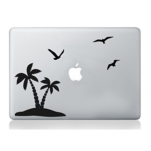 Palm Birds MacBook Sticker Laptop Relaxing Holiday Decal Art Apple Decoration