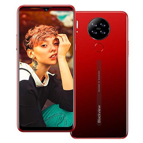 Blackview A80 (2020) 4G Smartphone ohne Vertrag Günstig 6,49 Zoll Android 9.0 2GB RAM + 16GB ROM, 128GB erweiterbar 4200mAh Akku 13MP+5MP Dual Kamera Dual SIM Handy - Fingerabdrucksensor Rot