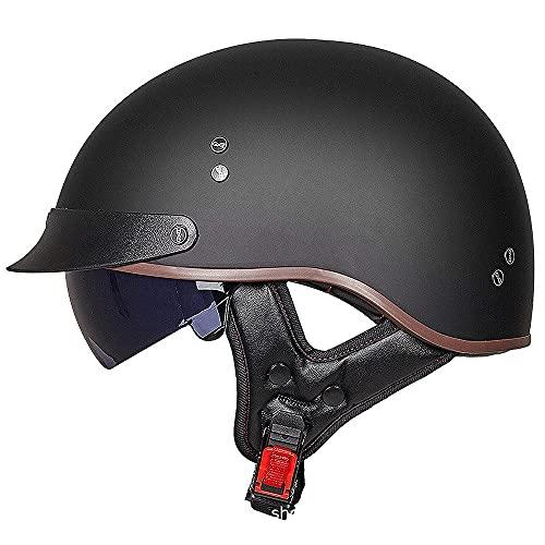 BDTOT Casco Jet Moto Vintage Helmets Mezzo Scooter Caschi da