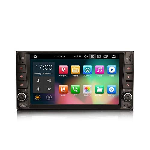 LYHY Navigatore per Auto 7 Pollici Android 10.0 Autoradio per Toyota Hilux RAV 4 Corolla Vios Supporto GPS SAT NAV Carplay Android Auto DSP Bluetooth WiFi Dab + TPMS 8-Core 4 GB RAM + 64 GB Rom