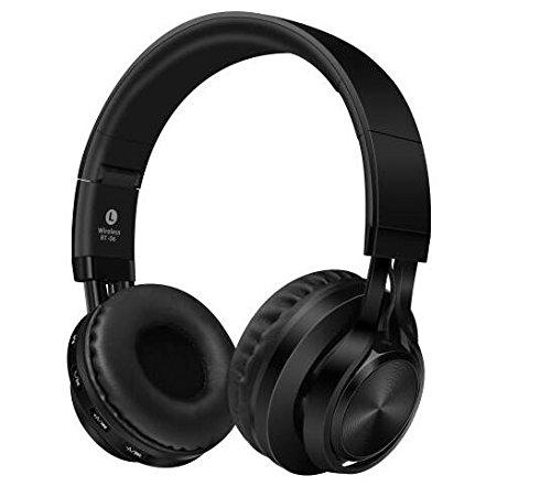 Sound Intone BT-06 - Auriculares inalámbricos Bluetooth 4.0, estéreo, plegables, con micrófono, color negro