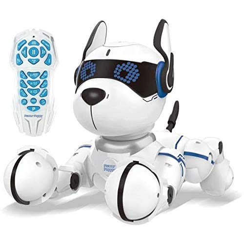 Lexibook DOG01 Power Puppy-My Programmable Smart Dog-Programmierbarer Roboter mit Fernsteuerung, Tanz, Yoga, Trainingsfunktion, Gesang
