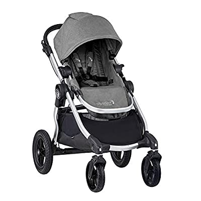 Baby Jogger City Select Stroller | Baby Stroller with 16 Ways to Ride, Goes from Single to Double Stroller | Quick Fold Stroller, Slate