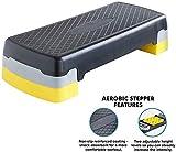 Steppbrett Step-Bench Aerobic-Übung Steps Pedal Gym Yoga Pilates Training Übung Cardio Höhenverstellbarer Oberflächenbeschaffenheit Non-Slip