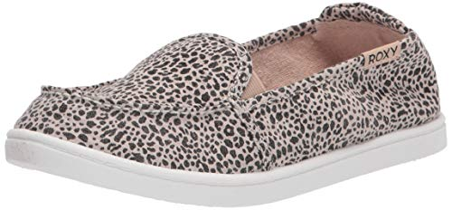 Roxy Tênis feminino Minnow Slip On, Estampa de leopardo Exc, 8