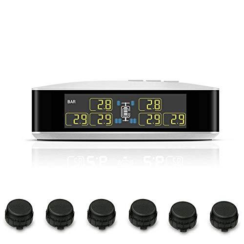 Millster Reifendruckkontrollsystem - Rdks Nachrüsten,Genaue Echtzeitüberwachung des Reifendrucks Und Der Reifentemperatur Zur Aufrechterhaltung des Reifengleichgewichts,SUV,KFZ