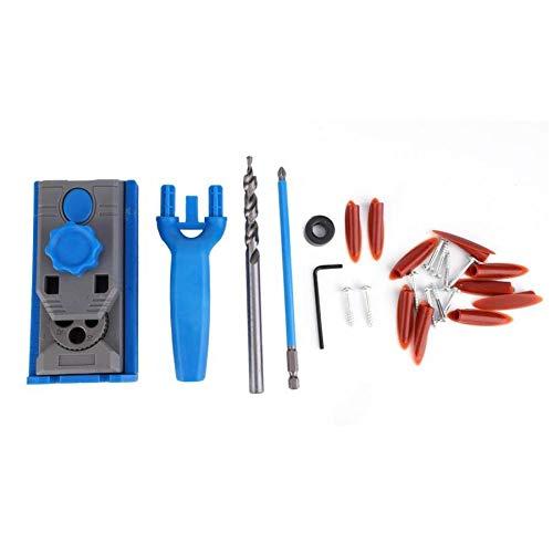 NO LOGO FMN-HOME, 25 Stück/Set Taschenlochbohrvorrichtung, rund, Holz, Zapfenloch, Bohren, Positionierer, Bohrer, Holzbearbeitungswerkzeug, Taschenlochvorrichtung.