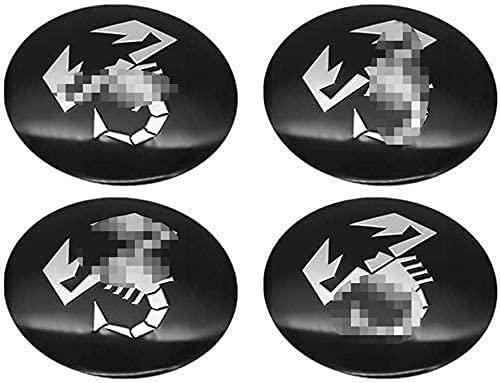 4 Uds tapas de cubo de centro de coche 124/125/125/500 stilo ducato para FIAT Abarth Punto, llantas adhesivas con logotipo de centro de llantas de 56 mm