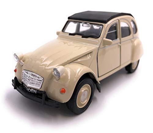 H-Customs Welly Citroën 2CV Décapotable Auto Modèle Produit sous Licence 1: 34-1: 39 Beige Aussi