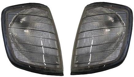 Set de intermitentes frontal, apto para Mercedes W124. Acabado: Gris
