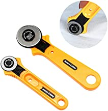 2 Pcs Rotary Cutter for Fabric, (45mm + 28 mm) Professional Tools with Safety Lock, Ergonomic Rotary Cutter Tool for Sewing Fabric Leather Quilting & More
