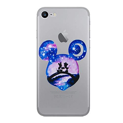 I-CHOOSE LIMITED Disney Acuarela Caso Cubierta de Teléfono para Apple iPhone 6S Plus 6 Plus (5.5') con Protector de Pantalla/Gel/TPU/Mickey & Minnie