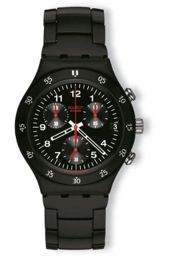 SWATCH Reloj de pulsera negro y rojo para hombre YCB4008AG (Wristwatch)