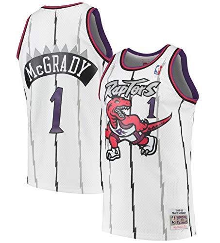 Mitchell & Ness Tracy McGrady Toronto Raptors Men's White 1998-99 Swingman Jersey (Medium)
