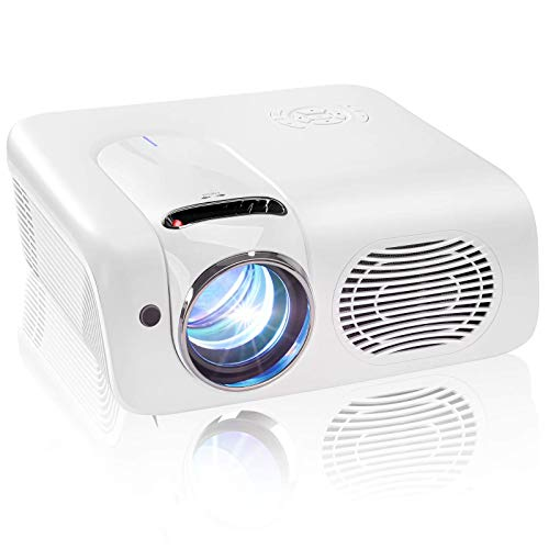 Colzer Video Projector,Native Full HD 1080P Surport Zoom LCD LED Home Theater Projector 8000 Lux Projector, ±50° Keystone Correction, Compatible with HDMI, Laptop,VGA,TV Stick