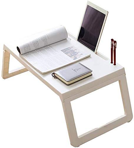 Qfeng laptop opklapbare bed tafel en bank tafel laptop tafel schrijven leren bed lezen bed tafel eettafel lade met bureaublad groef
