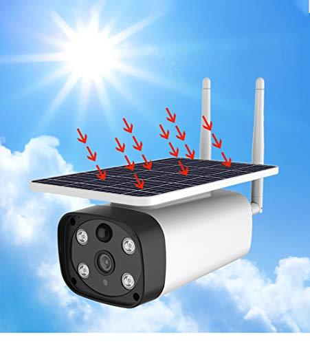 WXJHA Telecamera IP Camera Batteria Solare Telecamera Esterna Wireless 4G Network Power 1080P 2.0MP Impermeabile di Sicurezza TVCC Wireless telecamere a Circuito Chiuso