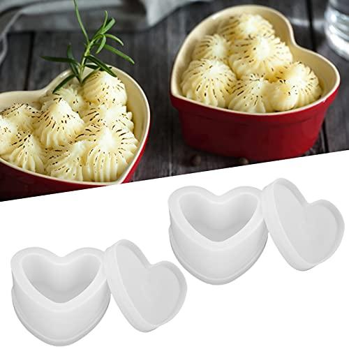 Caja de silicona en forma de corazón de 2 piezas, fácil caja de silicona de...
